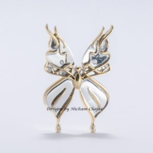 Butterfly Jewel - Design by Hicham Chajai with Arabic Calligraphy