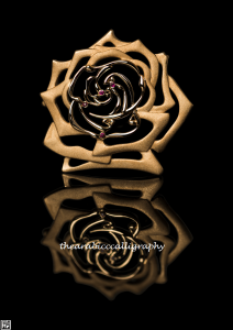 Gold Pendant & Ruby - Rose